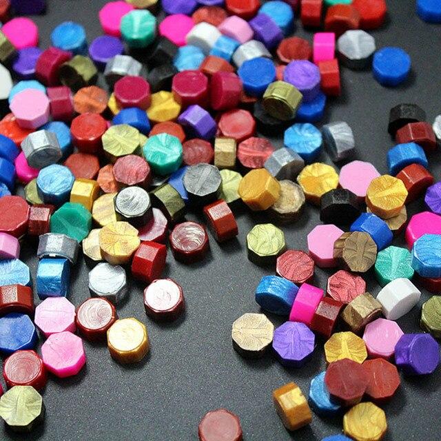 Octagon wosk uszczelniający znaczki kartka z życzeniami pieczęć zaproszenie na ślub koperta pieczęć mieszane kolor opakowanie 100 sztuk