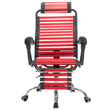Creative Computer Chair Lifted and Rotated Rubber Band Stool with Footrest Reclining Household Health Chair Office Staff Seat portable multifunction tattoo chair cosmetology manicure lifted stool rotated barber chair with footrest office staff stool
