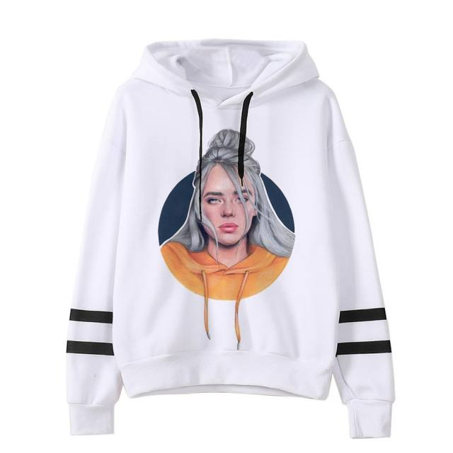 BILLIE EILISH STRIPED HOODIE (12 VARIAN)