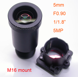 "Image 1 - Star Light F0.90 aparture 5mm LENs 5MP 1/1.8"" format for image sensor IMX327,IMX307,IMX290,IMX291 camera PCB board module F0.9"