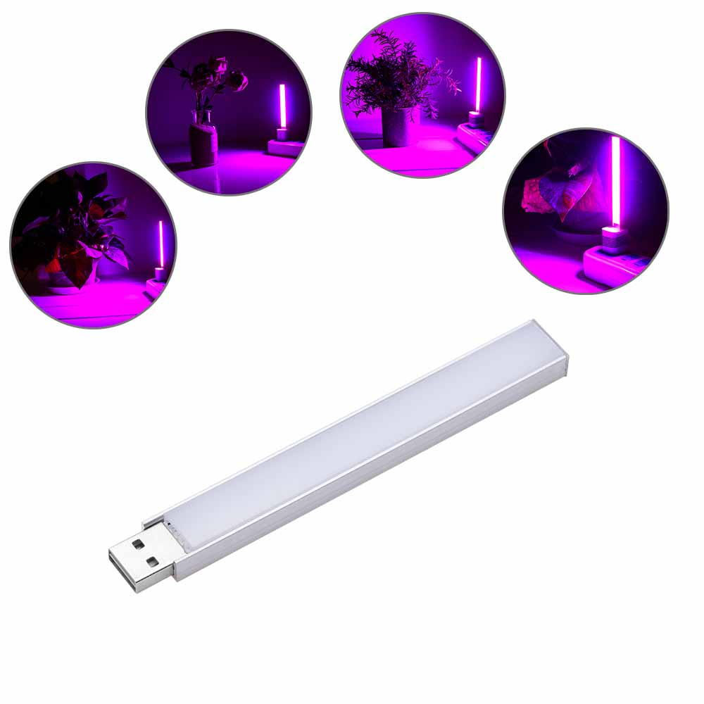 CLAITE 2.5W 14 LED USB Full Spectrum Red: Blue 10:4 Grow Light For Indoor Hydroponic Flower Plant DC5V