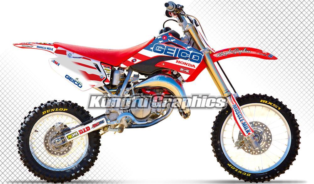 Barbed Style 2002 Full  Custom Graphic  Kit HONDA CR 80 1996