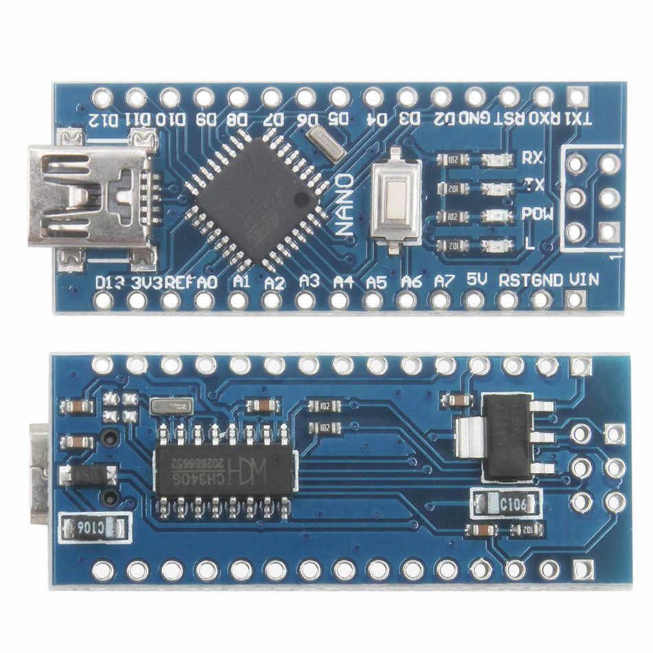 لاردوينو نانو البسيطة USB مع بووتلوأدر ل اردوينو نانو 3.0 تحكم لاردوينو CH340 برنامج تشغيل USB 16 Mhz نانو v3.0 ATMEGA328