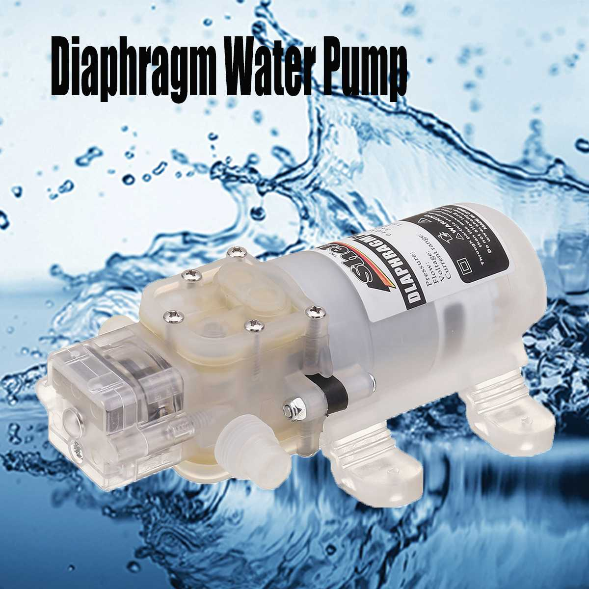 Electric DC 12V 4L/min Food Grade Self Priming Diaphragm Water Pump 30W/60W Auto-Switch for red wine drinking milk cooking oilElectric DC 12V 4L/min Food Grade Self Priming Diaphragm Water Pump 30W/60W Auto-Switch for red wine drinking milk cooking oil