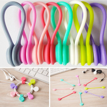 Cord-Holder Coil-Winder-Hubs Cable-Wire-Organizer Earphone Magnet Silicone 1PCS Headset-Type