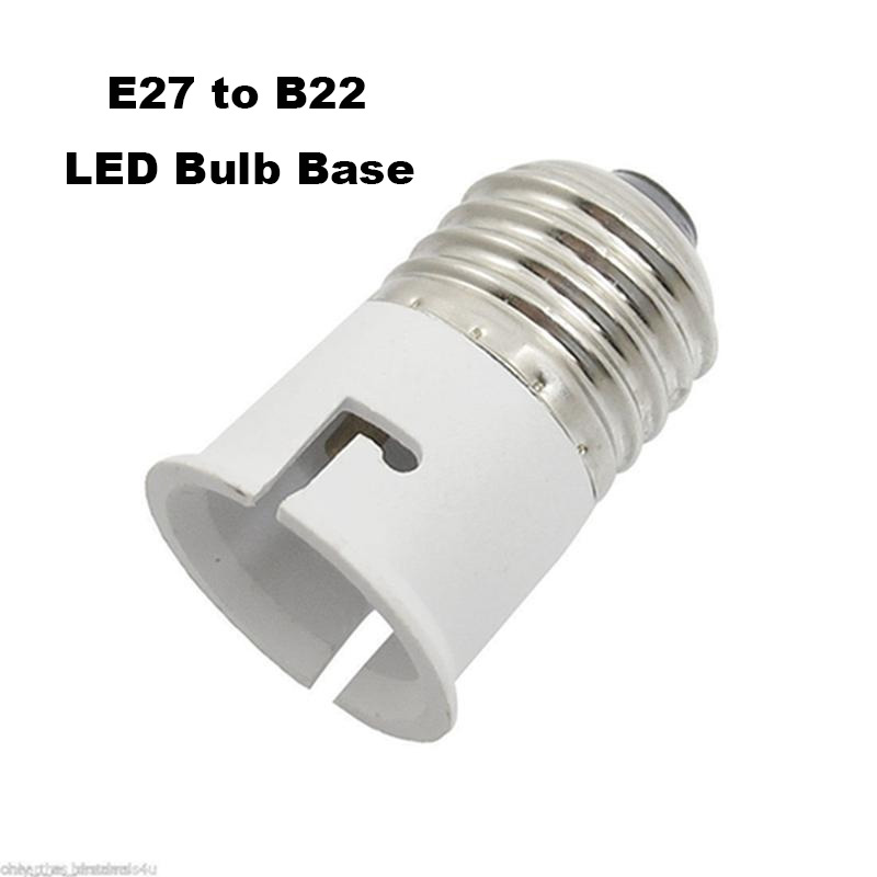 E27 To B22 Lamp Converter Fitting Edison Screw Bayonet Bulb Adapter Base Round Screw Sockets Holder Lot Light Plastic