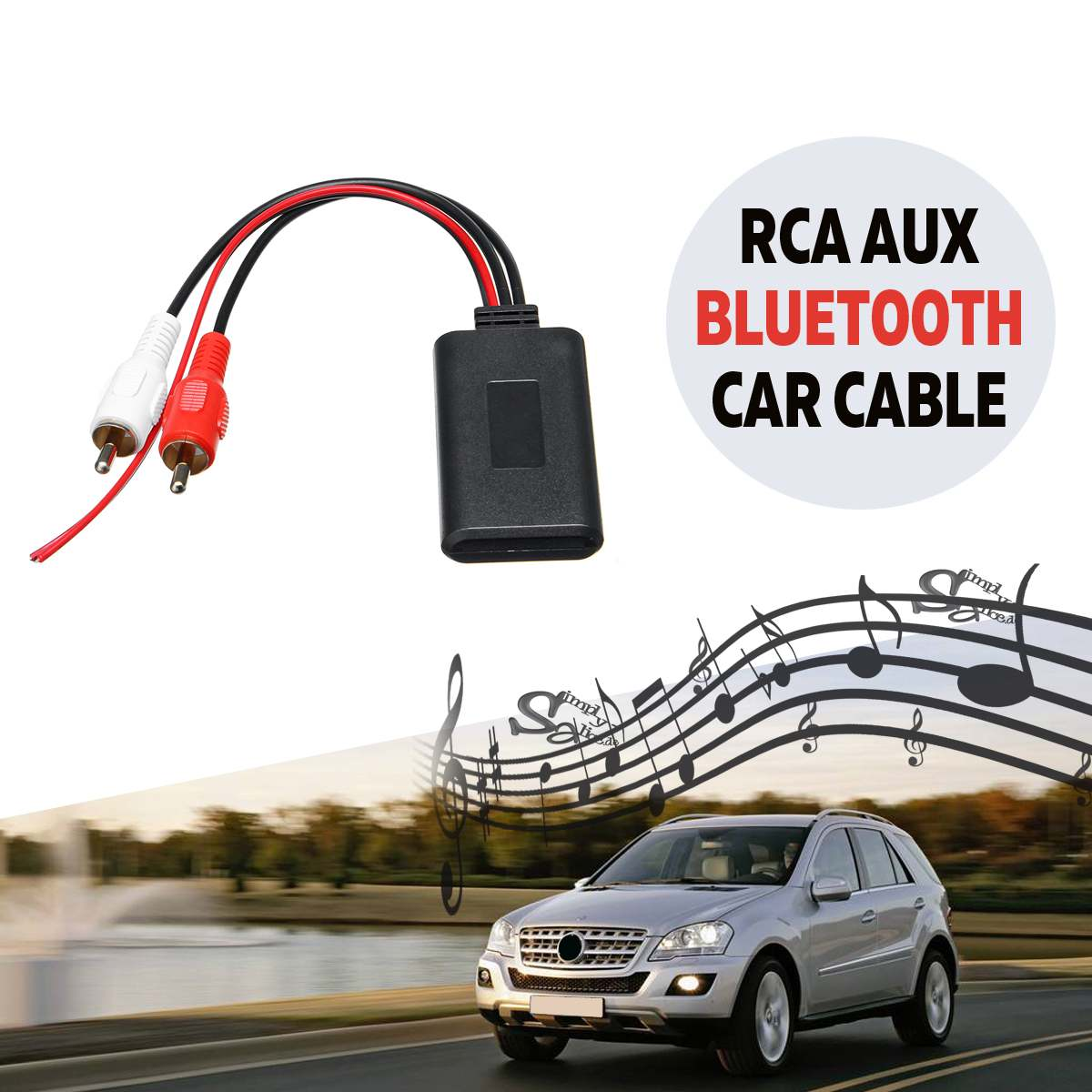 2 RCA AUX IN Car bluetooth Wireless Connection Adapter for Stereo Music Audio Input Wireless AUX Cable Universal for Truck Auto
