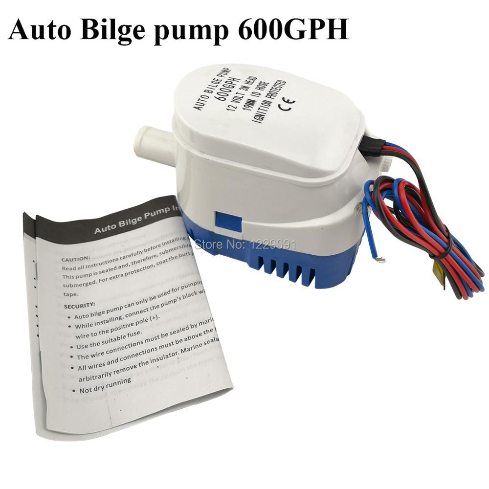 Boat Bilge Water Pump Generic Automatic Submersible 12v 24v 600gph DC All-in-one Marine Bilge Auto Yacht with Float Switch sailflo new mini bilge pump marine water aspirator fountain submersible yacht boat electric marine bilge pump