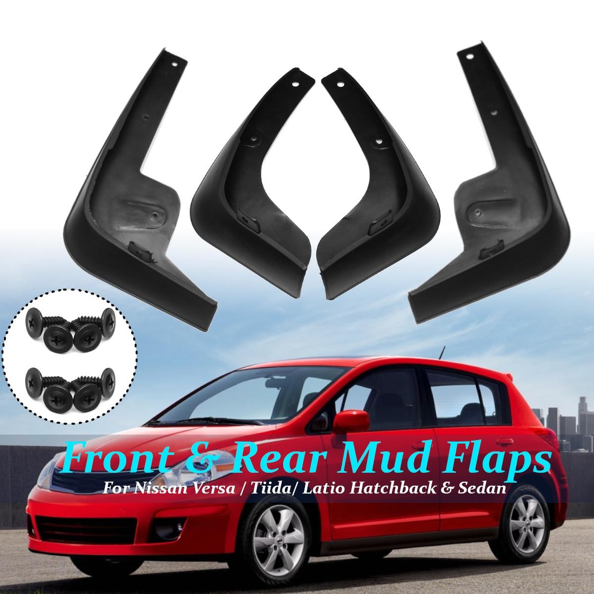 Front Rear Mud Flaps For Nissan Tiida Versa C11 2007-2011 Hatchback Fender Splash Guard Mud Flap Car Accessories