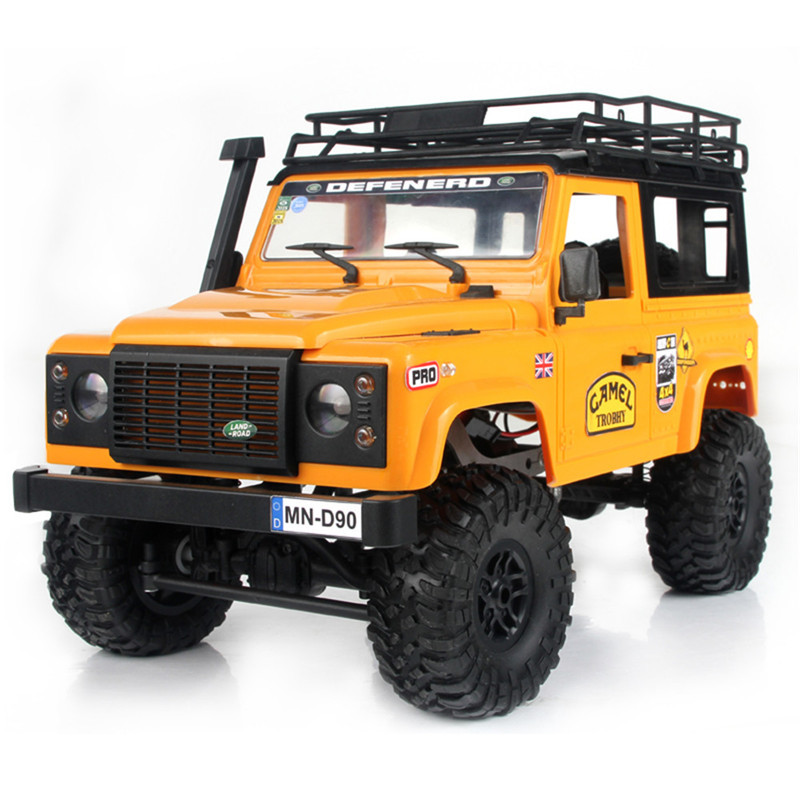 2019 New Arrivals MN-90 1/12 2.4G 4WD 15KM/h RC Car 2 Body Shell & Front LED Light Rock Crawler Truck RTR Toy Kids Boys Gift