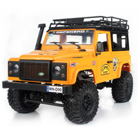 2019 New Arrivals MN 90 1/12 2.4G 4WD 15KM/h RC Car 2 Body Shell & Front LED Light Rock Crawler Truck RTR Toy Kids Boys Gift