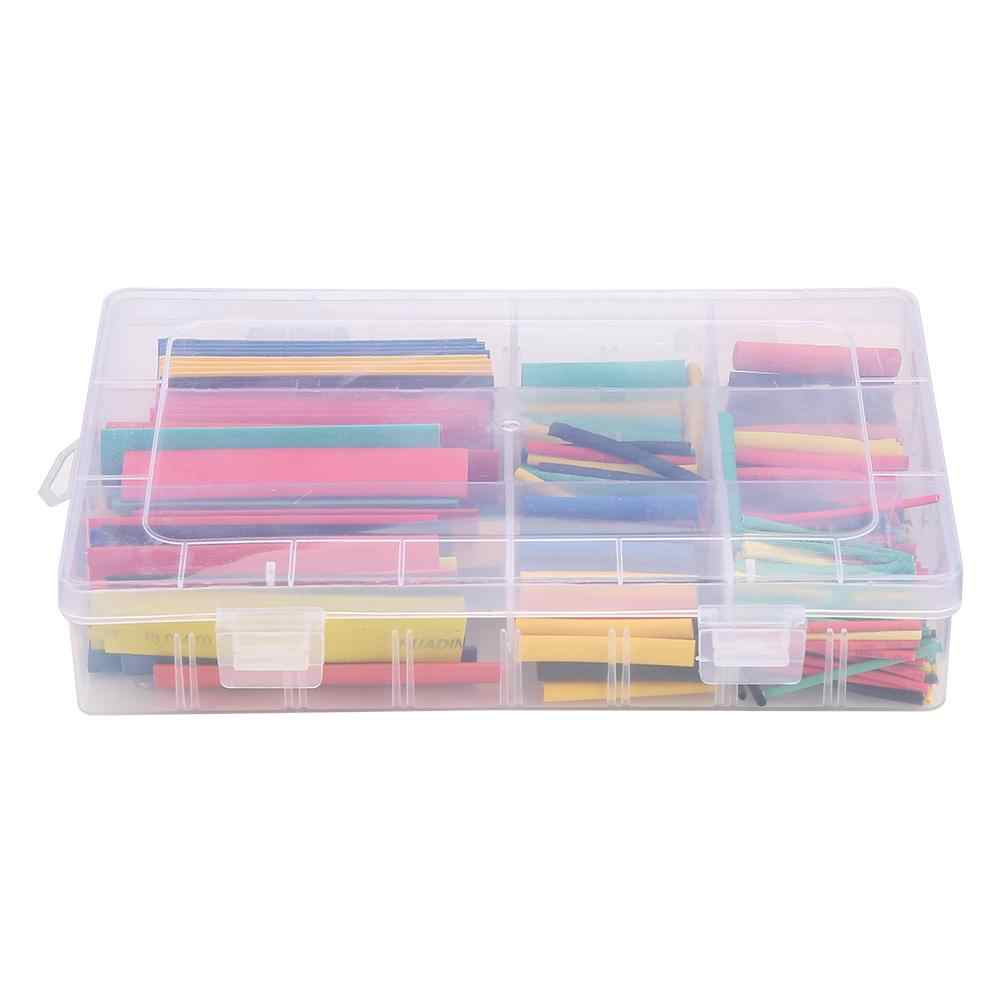 385pcs 2:1 Heat Shrink Tubing Insulation Shrinkable Tubes Assortment Wire Cable Sleeve Kit Flame retardant