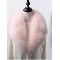 Pink color sweet warm winter fur scarf of real fox fur collar black red gray color warm soft luxury coat collar S806
