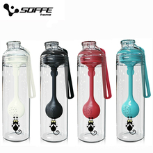 Soffe 500ml Plastic Sport Water Bottle Bpa Free With Lid Spoon Tea Inf
