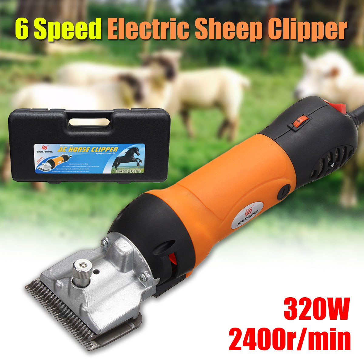 doersupp 110 240V Electric Horse Sheep Clipper 300W Shearing Machine Electric Dog Grooming Kit Cutter Wool scissor 3000r/min