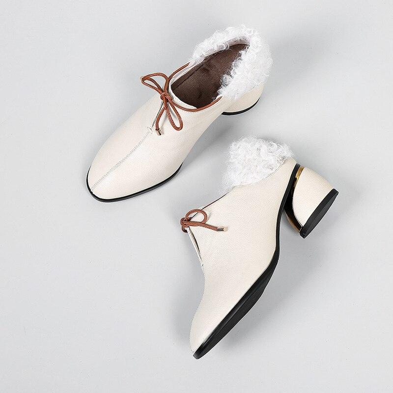 Femmes 2019 beige Mode Cuir Chaussures Fendue Talons Bandage D'été Commune 10sj044 Nouveau Hauts Black Fourrure En De deat Noire Printemps Orteil Pointu Pu Bottes Udqxwqg