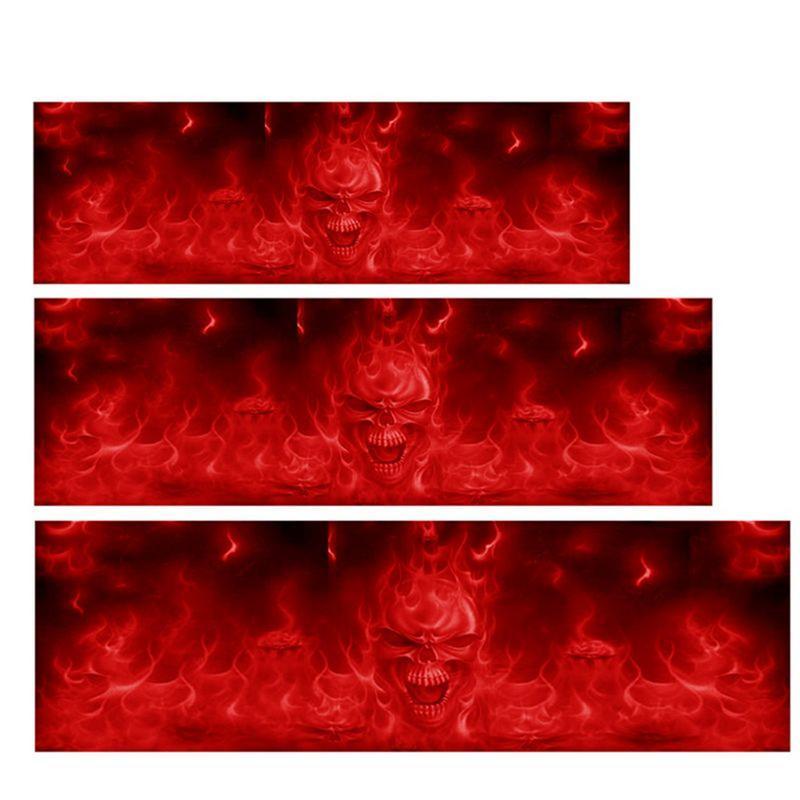 Tête crâne feu flamme voiture ou ordinateur portable decal vinyl sticker pour fenêtre panneau pare-chocs