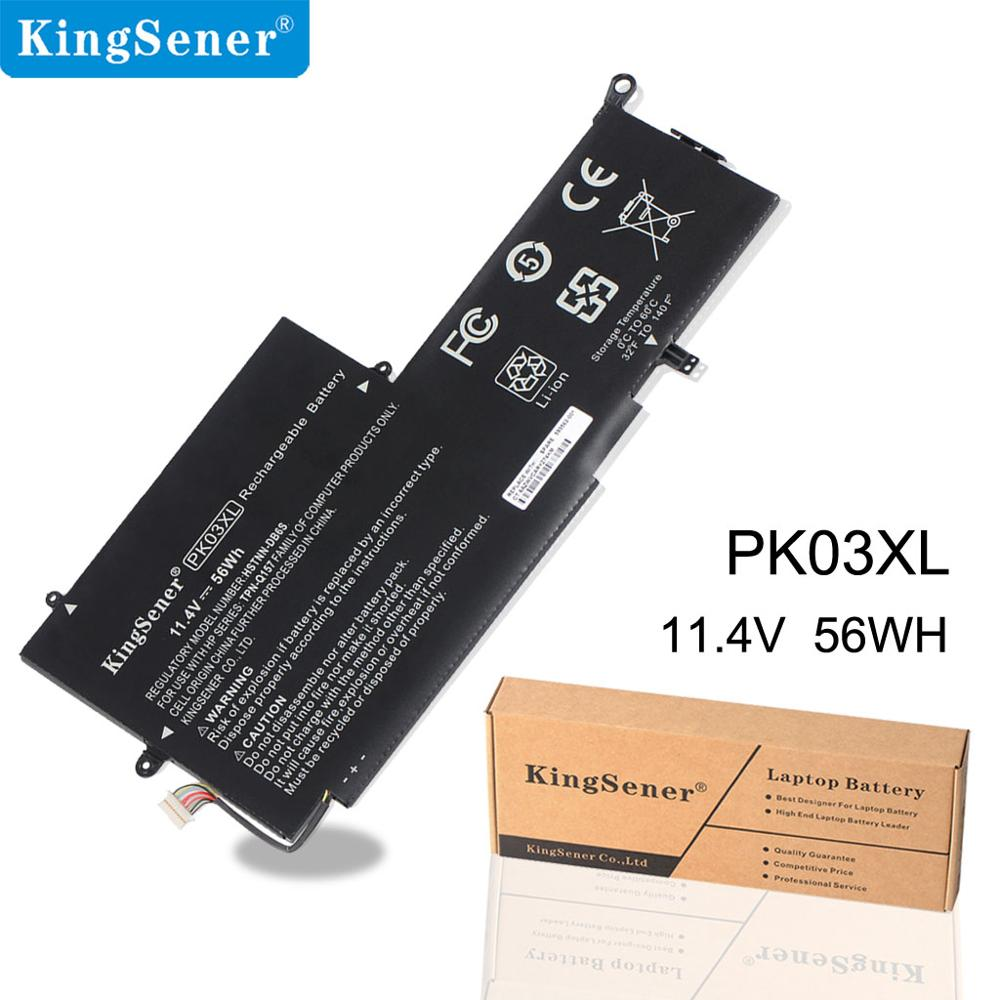 KingSener New PK03XL аккумуляторы HP Specter Pro X360 Specter үшін 13 PK03XL HSTNN-DB6S 6789116-005 11.4V 56WH Free 2 Year Warranty