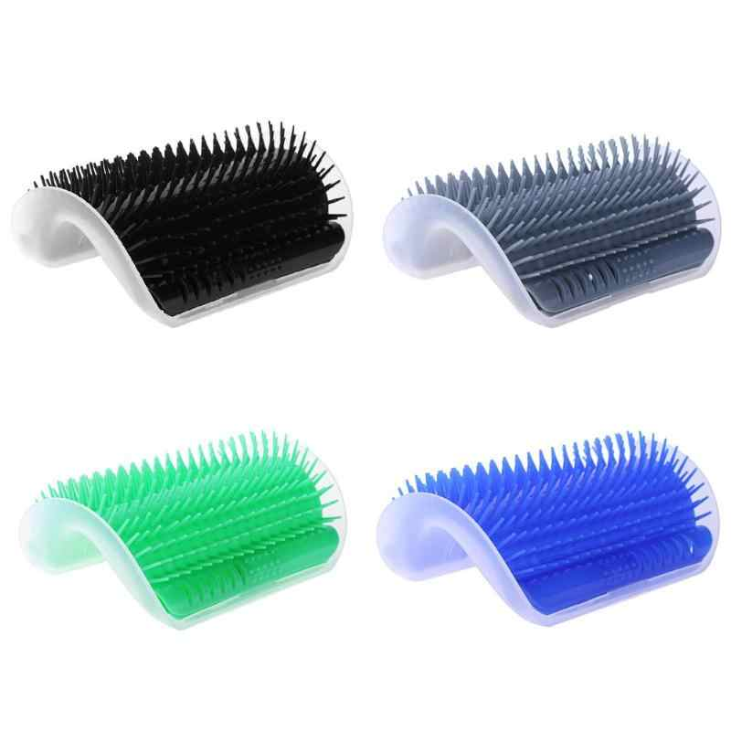 Pet Products Cats Brush Corner Cat Massage Self Groomer Comb Brush Cat Rubs the Face with a Tickling Comb Cat Product Tool
