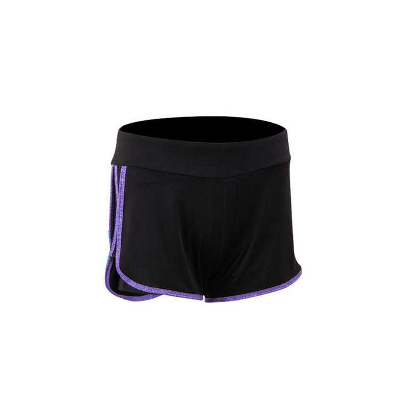 ✔  Женские шорты для йоги 2 в 1 сплошной цвет Мягкий фитнес Jogger Спортивные шорты для тренировок Тонк ①