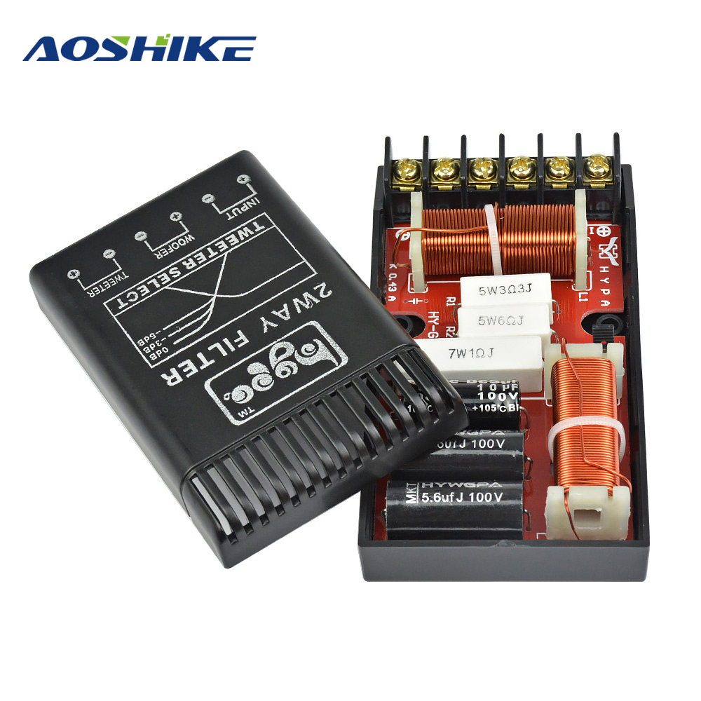 AOSHIKE Professional Crossover Audio Car Auto Frequency Divider For Tweeter Subwoofer <font><b>Speakers</b></font> Power Amplifier Board Home Theate image