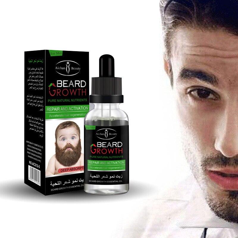 30ml Natural Organic Beard Oil Beard Wax Balm Hair Loss Prod