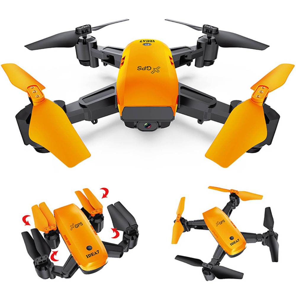 Le Idea IDEA7 Foldable RC Drone 2.4G 720P Camera Quadcopters With GPS Altitude Hold Follow Waypoints Auto Return RC Airplanes rc airplanes s70w rc drone auto follow altitude hold 720p wifi camera gps return remote control fpv rc quadcopter drone