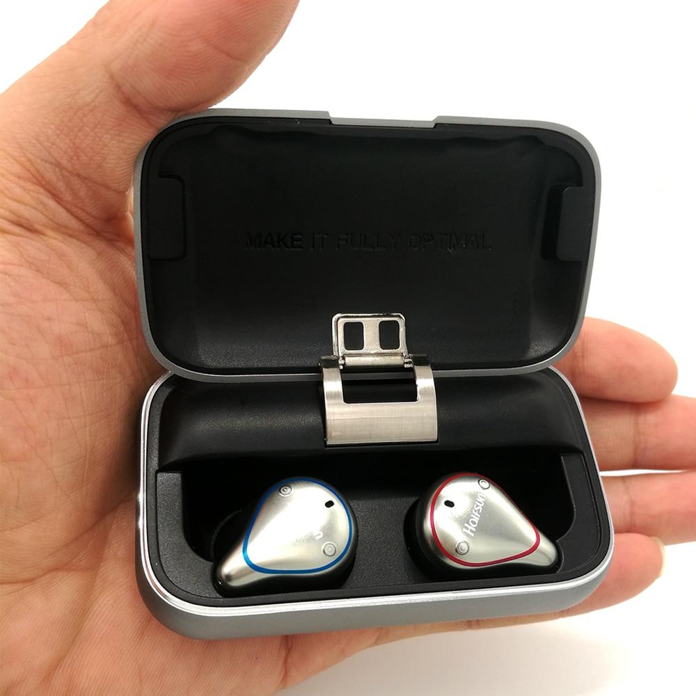 GEOFOX Bluetooth 5.0 Vero Auricolari Senza Fili impermeabile Auricolare In-Ear di Sport 3D Stereo Del Suono con la Casella di Ricarica per il Telefono
