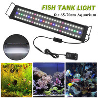 Aquarium Lighting Fish Tank Light Hood with Extendable Brackets,White and Blue,Green,Pink,Red 78 LEDs for 65 70cm Aquarium