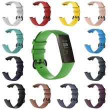 Soft Silicone Sports Replacement Watch Bands Wrist Strap For Fitbit Charge 3 Charge3 Smart Bracelet Band S/L