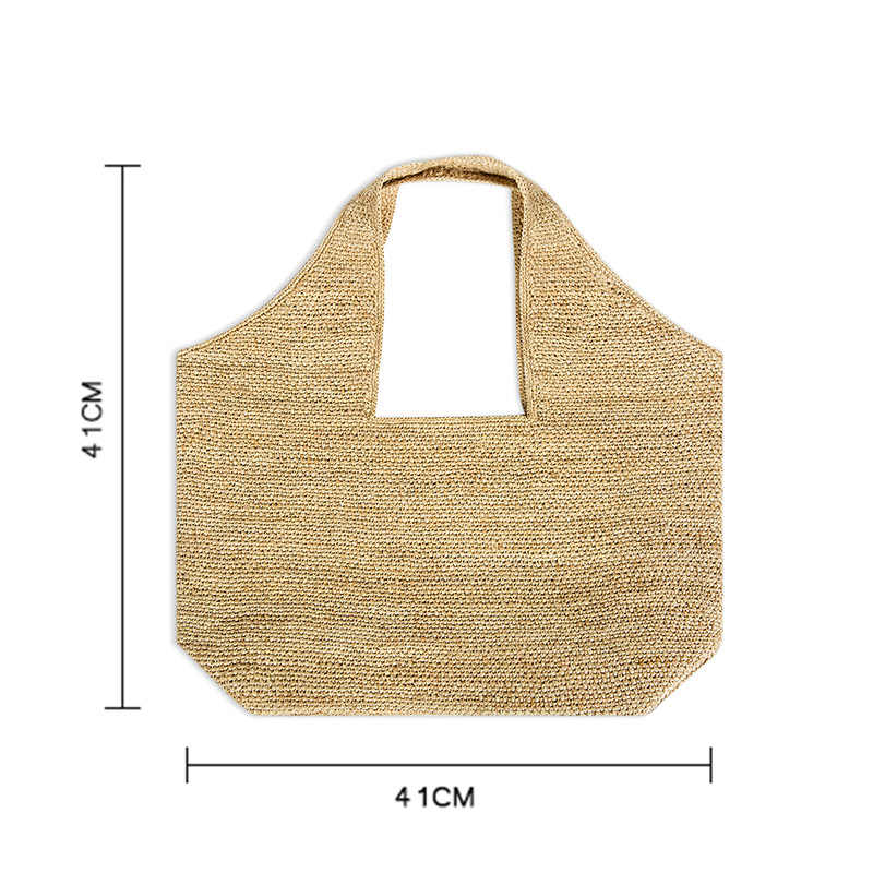 LEFUR 2019 わら袋夏のビーチ女性籐クラッチハンドバッグショッピングパーティーパックボヘミアンバリ