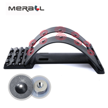 Back Massager Stretcher Fitness Massage Equipment Stretch Relax Stretcher Lumbar Support Spine Pain Relief Chiropractic Adjust цена