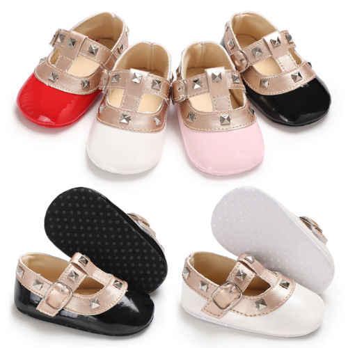PUDCOCO Newest Newborn Baby Girls Bow Princess Shoes Anti-slip Soft Sole Crib Sneaker Prewalker Kids PU Leather Casual Shoes