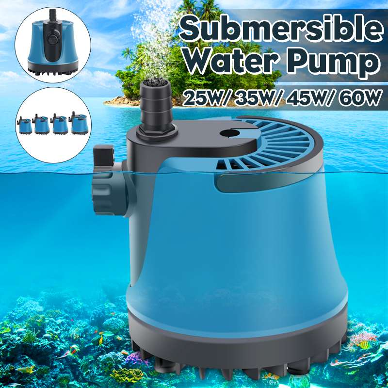 15/35/45/60W 220V Garden Submersible Water Pump Fish Tank Circulating Aquarium Fountain Hydroponic Safety Energy Save Filter