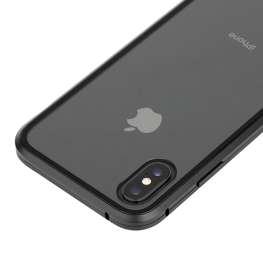 Image 2 - Luxury Magnetic case for iPhone XR metal glass case for iphone x/xs max/6/6s/7/8 plus bumper alumilum 360 full protection 50pcs-in Fitted Cases from Cellphones & Telecommunications