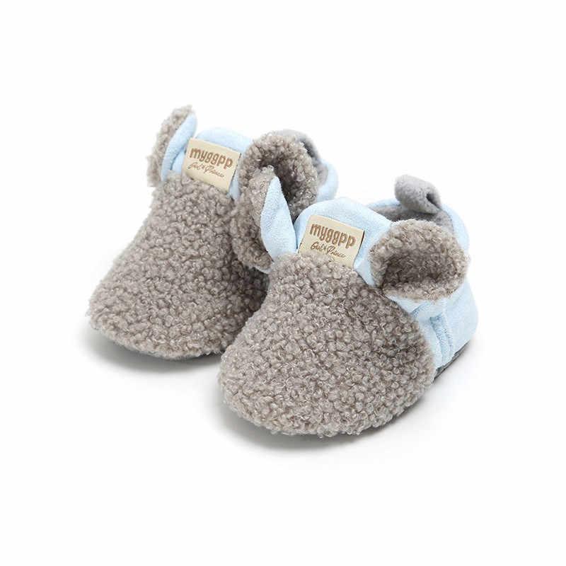 Канис зима теплая детская обувь для малышей новорожденных обувь для ползунков девушка ягненка тапочки для новорожденных Кроссовки Повседневное Bebe обувь для девочек