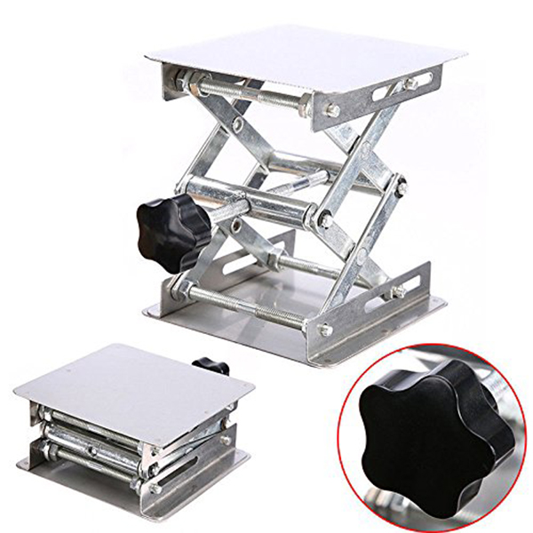Stainless Steel Adjustable Lab Stand Table Rack Scissor Lab-Lift Lifter For Science Experiment 100 X 100mm Woodworking Benches