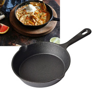 1PC Non Stick Skillet Fry Pan Pre Seasoned Cast Iron Egg Pancake Cooking Tool Cookware For Home Kitchen