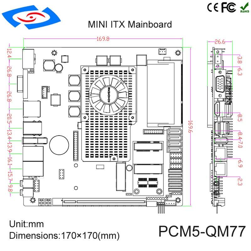 2019. gada jaunā ierašanās Mini ITX mātesplates atbalsts rPGA 988 - Rūpnieciskie datori un piederumi - Foto 3