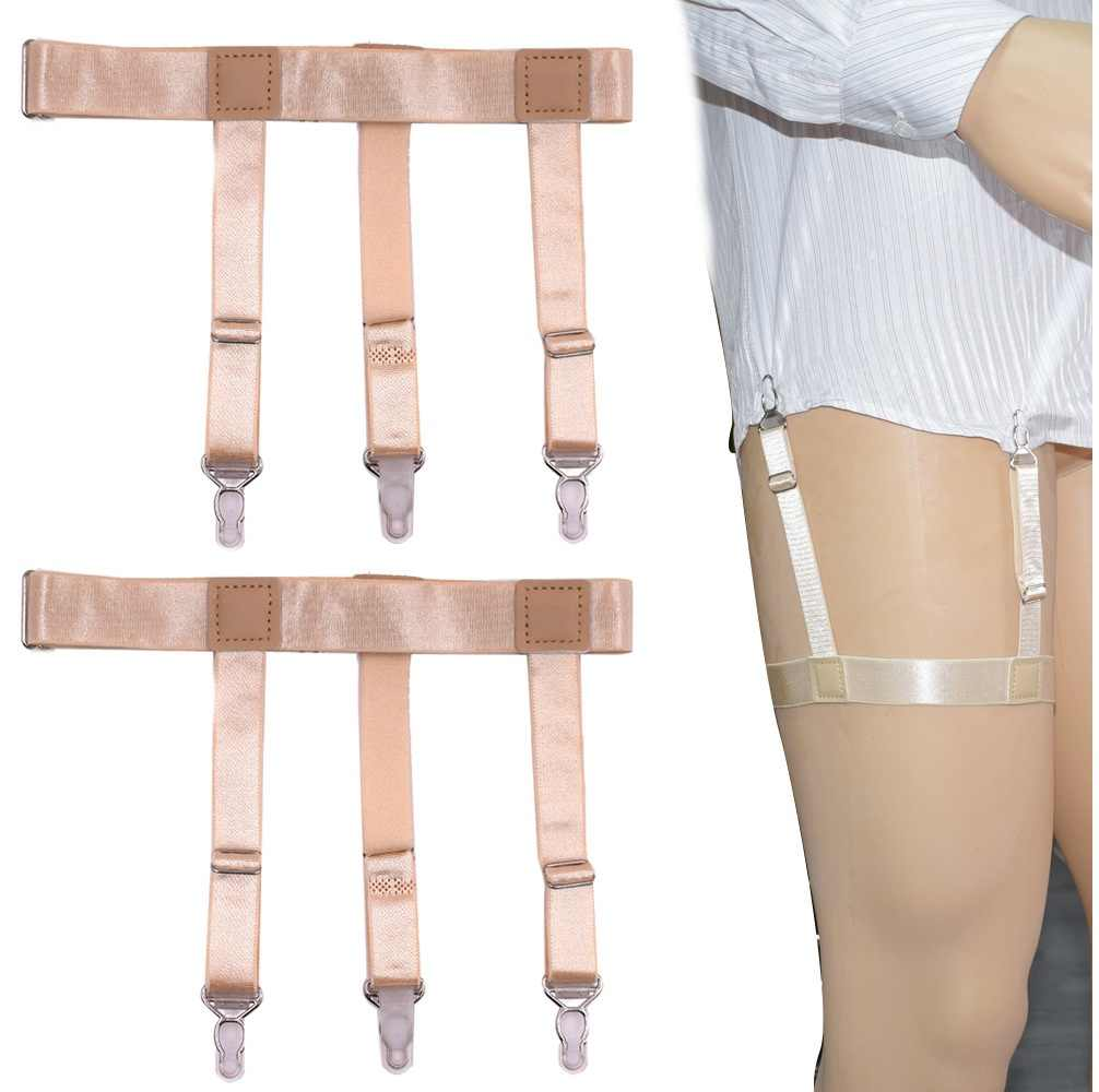 Male Shirt Garters Stays Business Suspenders Braces Men's Garter Belt  Elastic Military Shirt Holder Shirt Garters