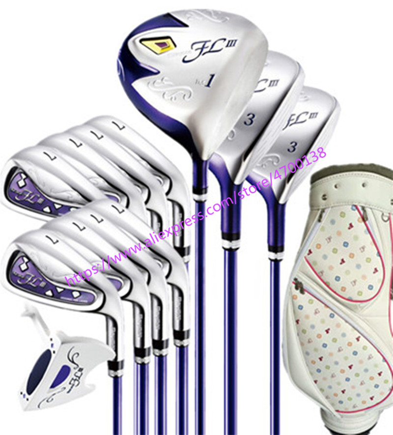 2019 New women Golf clubs Maruman FL III Golf clubs driver+fairway wood+irons+putter+bag Graphite Golf shaft Free shipping