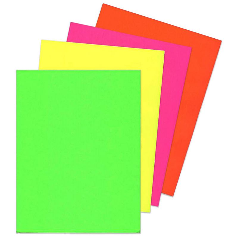 120X Sheets Of A4 Neon Card - Fluorescent Craft Card Stock