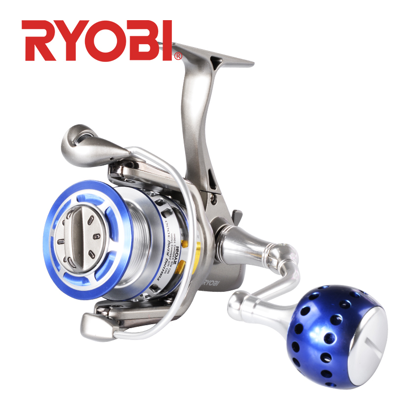 <font><b>RYOBI</b></font> FISHING KING I Fishing reel spinning reels 1000 2000 <font><b>3000</b></font> 4000 6000 8000 5.1:1/5.0:1 Gear Ratio 6+1BB MAX DRAG 10kg image