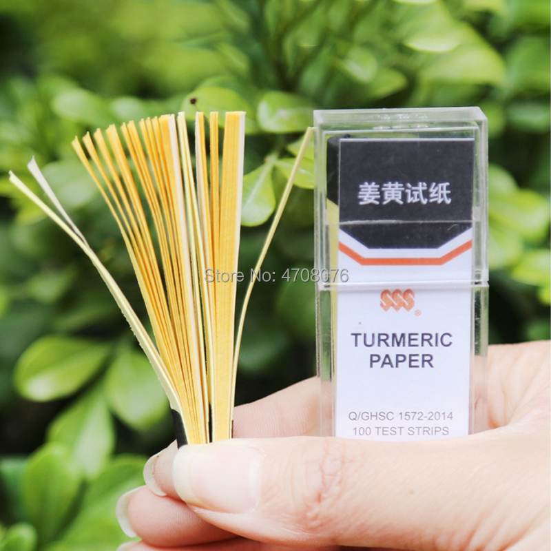 Congo Red Test Paper Lead Acetate Indicator Turmeric Test Strips Litmus Paper Starch Iodide Paper Phenol Phthalein 100strips/box