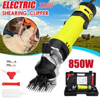 850W US/AU Plug Electric Sheep Dog Pet Hair Clipper Animal Shearing Supplies Goat Alpaca Farm Cut Machine w/Box Adjustable Speed