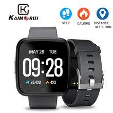 Y7 relógio inteligente monitor de freqüência cardíaca pedômetro à prova dwaterproof água bt4.0 aptidão pulseira rastreador relógio masculino feminino para android ios