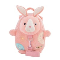 New Baby Anti lost Backpack Plush Doll Shoulder Bag With Traction Rope Toy School Kids Rabbit Animal Doll Toy Walker Child Leash