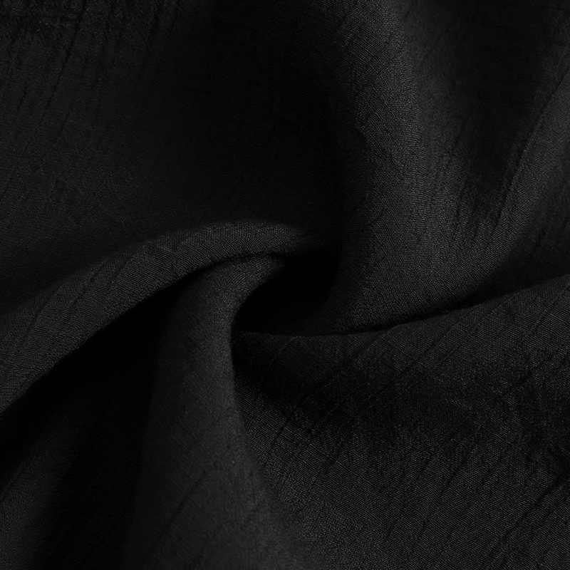 Женские Мужские рубашки с длинным рукавом сплошной цвет v-образный вырез кафтан Длинная блузка Топ из тонкой ткани мужская женская одежда рубашки 5XL Футболка Блузка унисекс