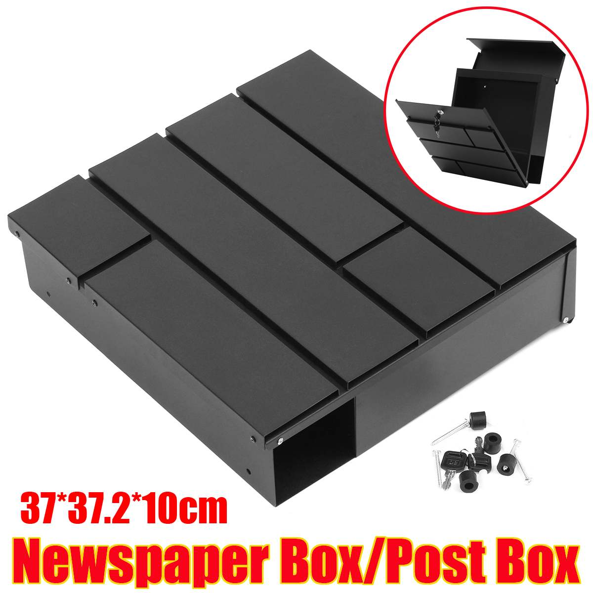 Lockable Stainless Steel Home Wall Mounted Mail Box Letter Box Post Newspaper