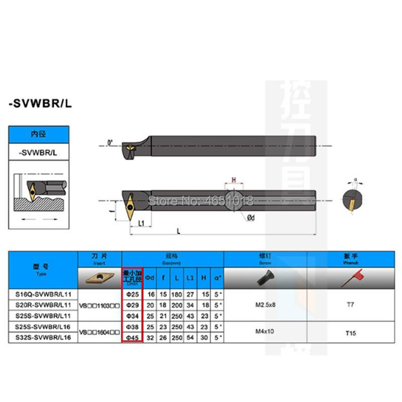 Free Delivery CNC turning tool inner hole cutter S16Q SVWBR11 S16Q SVWBL11 in Turning Tool from Tools